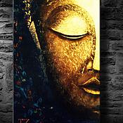 """Картины и панно handmade. Livemaster - original item Картина маслом холст """"Светящийся Будда"""" 50/75 картина масло. Handmade."""