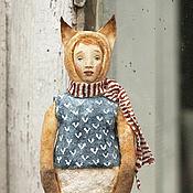Подарки к праздникам ручной работы. Ярмарка Мастеров - ручная работа Ватная игрушка на ёлку Лис. Handmade.
