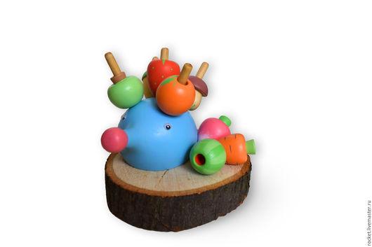 Развивающие игрушки ручной работы. Ярмарка Мастеров - ручная работа. Купить Деревянная развивающая игрушка для малышей Ежик. Handmade. для малышей