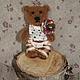 Мишки Тедди ручной работы. Маленький мишка 5,5 см.. Вишнёвый мир (cherryworld). Ярмарка Мастеров. Миник