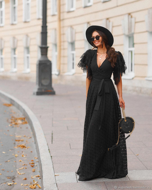 Кружевное платье, в макси длине , на запахе, Платья, Санкт-Петербург, Фото №1