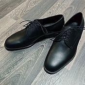 Обувь ручной работы handmade. Livemaster - original item Derby classic genuine leather, black matte color!. Handmade.