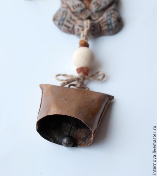 """Прихожая ручной работы. Ярмарка Мастеров - ручная работа. Купить Колокольчик на входную дверь """"африканские находки"""". Handmade. Серый, интерьер"""