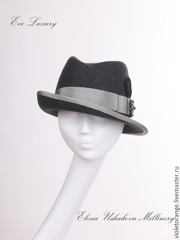 cf4ddd96e15 Aurelia hat from hat designer Helen Ushakova. The Luxury brand Evo is a handmade  of ...