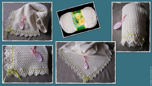 Текстиль, ковры ручной работы. Ярмарка Мастеров - ручная работа. Купить Пледик вязаный для вашего Солнышка. Handmade. Вязаный плед