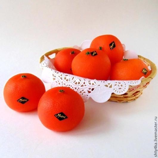 """Мыло ручной работы. Ярмарка Мастеров - ручная работа. Купить Мыло """"Мандарин"""". Handmade. Рыжий, мандарин, мандарины, новогодний подарок"""