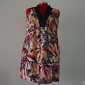 Одежда ручной работы. Ярмарка Мастеров - ручная работа Платье большой размер полулен. Handmade.