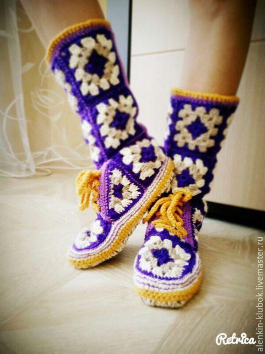 Обувь ручной работы. Ярмарка Мастеров - ручная работа. Купить Домашние сапожки. Handmade. Домашняя обувь, шерсть, зима