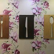 Картины ручной работы. Ярмарка Мастеров - ручная работа Панно на стену Вилка Ложка Нож. Handmade.