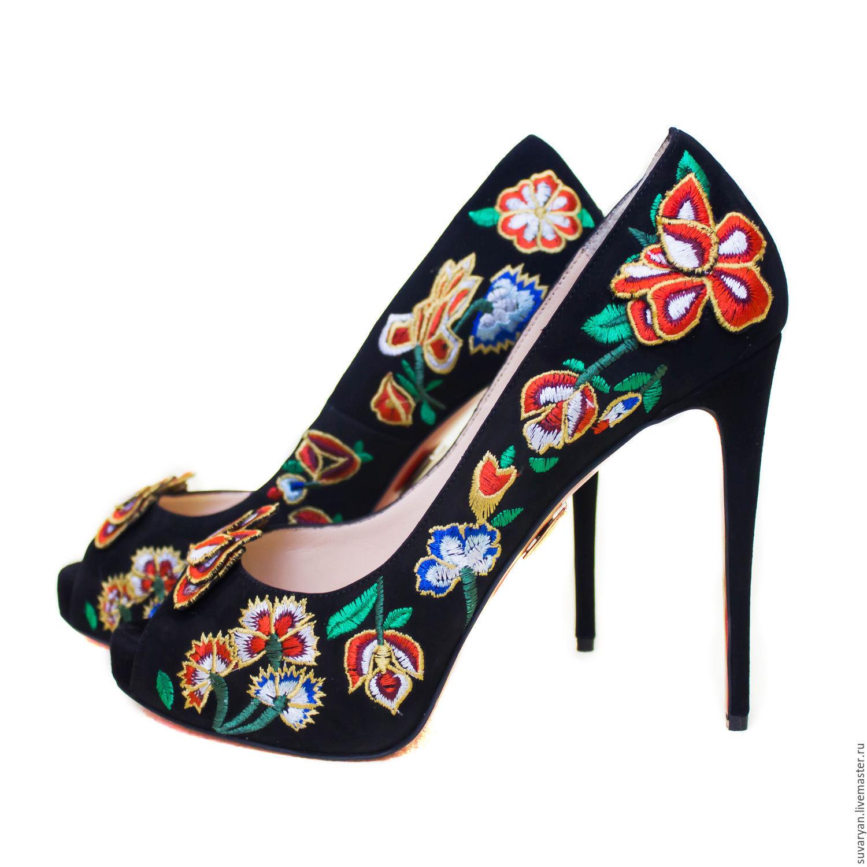 Shoes handmade 'Flowers ' SS'2018, Shoes, Barnaul,  Фото №1