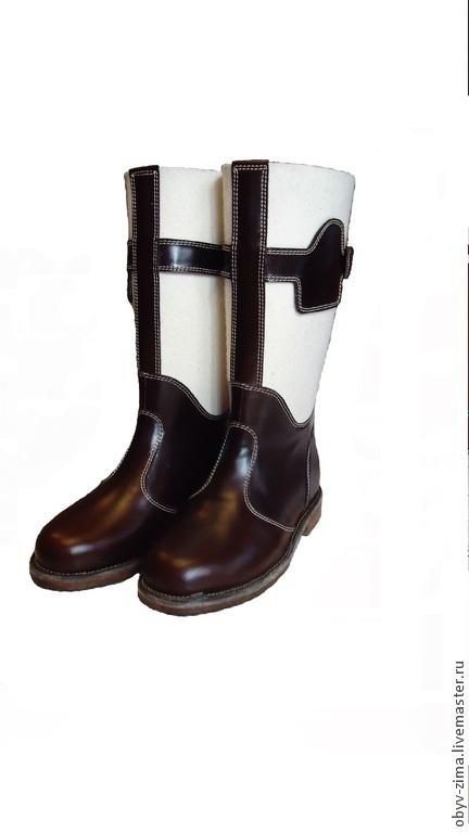 Обувь ручной работы. Ярмарка Мастеров - ручная работа. Купить Бурки Маршал. Handmade. Белый, кожа натуральная, ручная работа