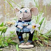"""Куклы и игрушки ручной работы. Ярмарка Мастеров - ручная работа Текстильная игрушка """"Слон"""". Handmade."""