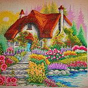 Картины и панно ручной работы. Ярмарка Мастеров - ручная работа Маленький домик. Handmade.