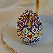 """Яйца ручной работы. Ярмарка Мастеров - ручная работа Яйцо из бисера с орнаментом """"Свет весны"""". Handmade."""