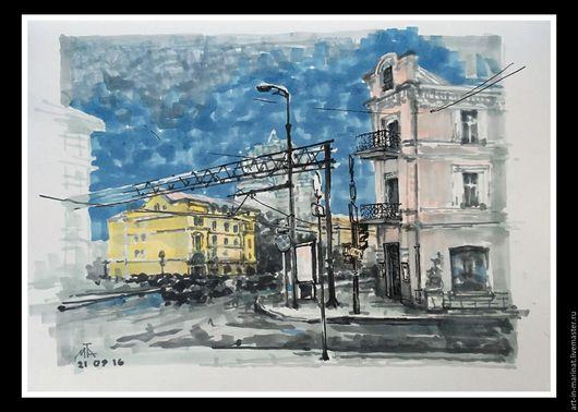 Город ручной работы. Ярмарка Мастеров - ручная работа. Купить Зарисовки Москвы. Handmade. Графика, графика рисунки, рисунок, картина