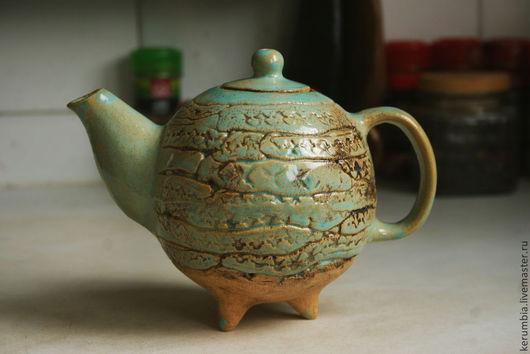 """Чайники, кофейники ручной работы. Ярмарка Мастеров - ручная работа. Купить Голубой чайник """"Чайный бриз"""". Handmade. Голубой"""