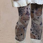 Аксессуары handmade. Livemaster - original item Eco Tights, contact dyeing or Eco-prints.. Handmade.