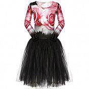 Работы для детей, ручной работы. Ярмарка Мастеров - ручная работа Платье трико с пачкой для балерины  25. Handmade.