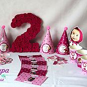 Подарки к праздникам ручной работы. Ярмарка Мастеров - ручная работа Оформление дня рождения Маша и Медведь. Handmade.