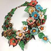 Украшения handmade. Livemaster - original item Muse Spring Morning. choker, removable floral decor. Handmade.
