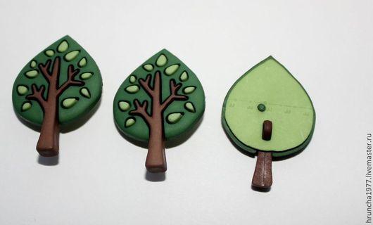 Шитье ручной работы. Ярмарка Мастеров - ручная работа. Купить Пуговицы дерево. Handmade. Тёмно-зелёный, пуговица, пуговицы для декора