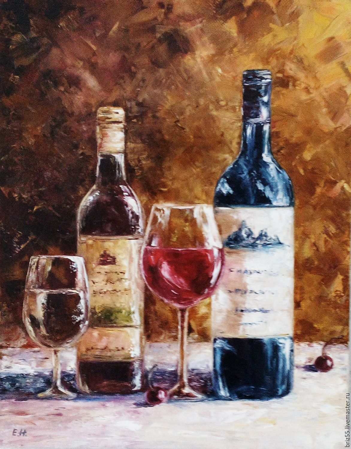 Oil painting still life Wine, Pictures, Zelenograd,  Фото №1