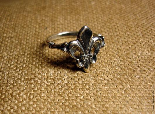 """Кольца ручной работы. Ярмарка Мастеров - ручная работа. Купить Кольцо """"Геральдическая лилия"""". Handmade. Серебряный, кольцо с цветком, серебро"""