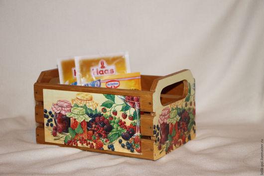 """Корзины, коробы ручной работы. Ярмарка Мастеров - ручная работа. Купить Короб-ящик  для специй, приправ """"Бабушкино варенье)"""". Handmade."""