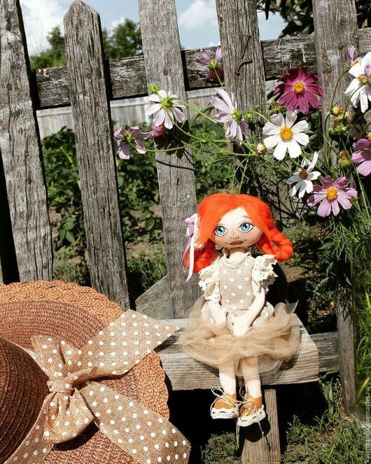 Коллекционные куклы ручной работы. Ярмарка Мастеров - ручная работа. Купить Малышка. Handmade. Коричневый, кукла в подарок, кукольная миниатюра