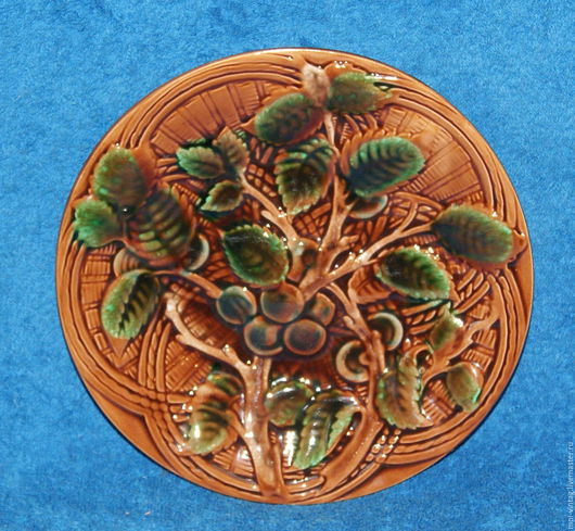 Винтажная посуда. Ярмарка Мастеров - ручная работа. Купить Тарелка вишня зик конаково фаянс 70е. Handmade. Тарелка, вишня