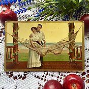 Винтажные книги ручной работы. Ярмарка Мастеров - ручная работа Антикварная открытка 1909г.. Handmade.