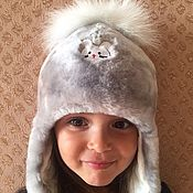 Работы для детей, handmade. Livemaster - original item Mutton baby hat with bubo. Handmade.