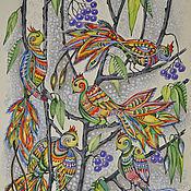 Картины и панно ручной работы. Ярмарка Мастеров - ручная работа Птички счастья. Handmade.