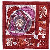 Картины и панно ручной работы. Ярмарка Мастеров - ручная работа Лоскутное Панно: «Цветок любви». Handmade.
