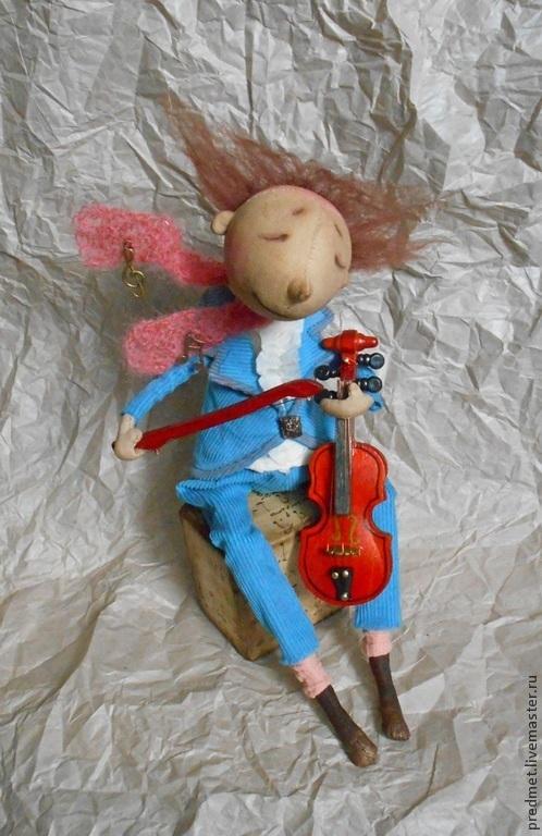 Коллекционные куклы ручной работы. Ярмарка Мастеров - ручная работа. Купить Он был музыкантом.... Handmade. Музыкант, интерьерная кукла