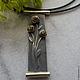 Подвеска Розы - необычное и стильное украшение из серебра и латуни.