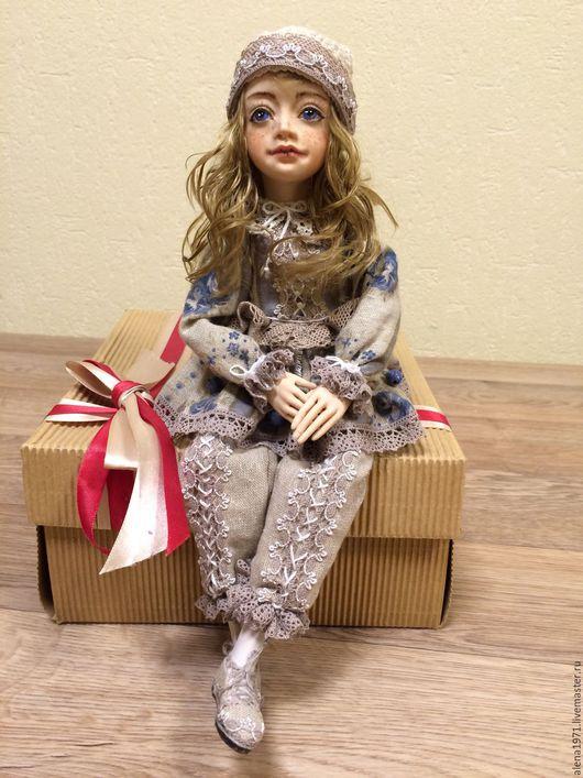 Коллекционные куклы ручной работы. Ярмарка Мастеров - ручная работа. Купить Будуарная кукла. Handmade. Бежевый, оригинальный подарок, ЛивингДолл