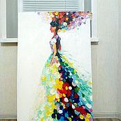 """Картины и панно ручной работы. Ярмарка Мастеров - ручная работа """"Ветер в голове"""" рельефная картина. Handmade."""
