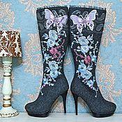 """Обувь ручной работы. Ярмарка Мастеров - ручная работа Валенки   """"Сиреневые фантазии"""" серые. Handmade."""
