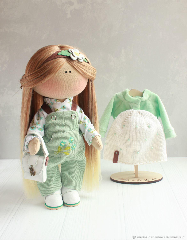 Интерьерная, игровая кукла со съёмной одеждой, Тыквоголовка, Рязань,  Фото №1