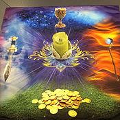 handmade. Livemaster - original item Tablecloth for divination double 70h70. Handmade.