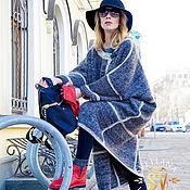 Одежда ручной работы. Ярмарка Мастеров - ручная работа Пальто вязаное демисезонное серое. Handmade.