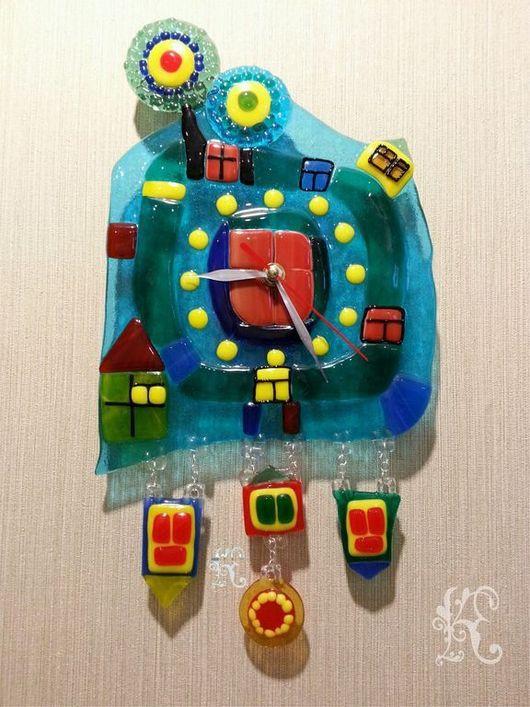 """Часы для дома ручной работы. Ярмарка Мастеров - ручная работа. Купить Часы  """" Загадка Хундертвассера"""". Handmade. Часы настенные"""