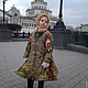 Одежда для девочек, ручной работы. Заказать Детское пальто  Александра. irinna.narush (irinnaN). Ярмарка Мастеров. Пальто, павловопосадский платок