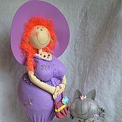 """Куклы и игрушки ручной работы. Ярмарка Мастеров - ручная работа Кукла """"Толстушка с кошкой""""Фоамиран,пенопласт. Handmade."""