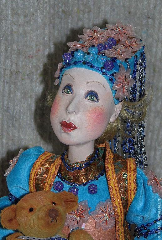 Коллекционные куклы ручной работы. Ярмарка Мастеров - ручная работа. Купить Зое. Handmade. Белый, тесьма, das, роспись акрилом