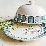 Посуда handmade. Livemaster - original item Summer birches. Butter dish handmade pottery.. Handmade.
