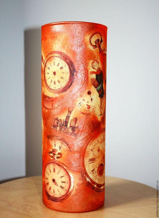 """Вазы ручной работы. Ярмарка Мастеров - ручная работа. Купить Ваза """"Старинные часы"""". Handmade. Рыжий, интерьер, ваза декоративная"""