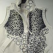 Одежда ручной работы. Ярмарка Мастеров - ручная работа жилет и его преображение. Handmade.
