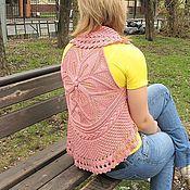 """Одежда ручной работы. Ярмарка Мастеров - ручная работа Жилет """"Розовое солнце в городе"""". Handmade."""